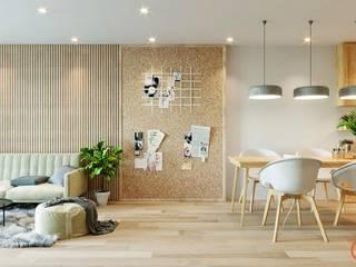Thiết kế nội thất căn hộ Ha Do Centrosa Apartment bởi Công ty trang trí nội thất RIM Decor Hiện đại
