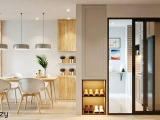 Thiết kế nội thất căn hộ Ha Do Centrosa Apartment Nhà bếp phong cách hiện đại bởi Công ty trang trí nội thất RIM Decor Hiện đại