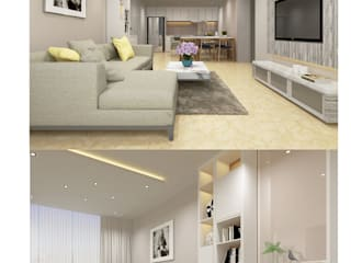 Thiết kế nội thất căn hộ chung cư Quận 7 bởi Công ty trang trí nội thất RIM Decor Hiện đại