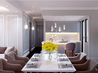 Thiết kế nội thất căn hộ Tân Cổ Điển Nhà bếp phong cách kinh điển bởi Công ty trang trí nội thất RIM Decor Kinh điển