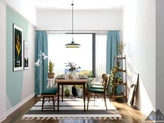 Thiết kế nội thất căn hộ Mizuki Park Apartment Phòng ăn phong cách hiện đại bởi Công ty trang trí nội thất RIM Decor Hiện đại