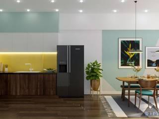 Thiết kế nội thất căn hộ Mizuki Park Apartment Nhà bếp phong cách hiện đại bởi Công ty trang trí nội thất RIM Decor Hiện đại