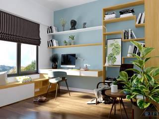 Thiết kế nội thất căn hộ Mizuki Park Apartment Phòng học/văn phòng phong cách hiện đại bởi Công ty trang trí nội thất RIM Decor Hiện đại