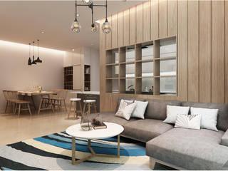 Thiết kế nội thất căn hộ Sunrise City Apartment bởi Công ty trang trí nội thất RIM Decor Hiện đại