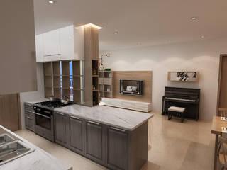 Thiết kế nội thất căn hộ Sunrise City Apartment Nhà bếp phong cách hiện đại bởi Công ty trang trí nội thất RIM Decor Hiện đại