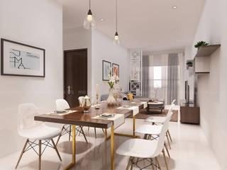 Thiết kế nội thất căn hộ Lexington Apartment Phòng ăn phong cách kinh điển bởi Công ty trang trí nội thất RIM Decor Kinh điển