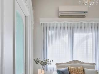 酒窩設計 Dimple Interior Design Classic style living room White