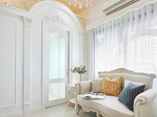 酒窩設計 Dimple Interior Design Living room White