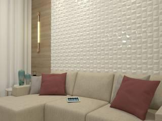 Laene Carvalho Arquitetura e Interiores ห้องนั่งเล่น