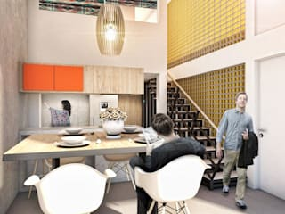 G._ALARQ + TAGA Arquitectos Living room Bricks