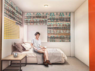 G._ALARQ + TAGA Arquitectos Small bedroom Multicolored