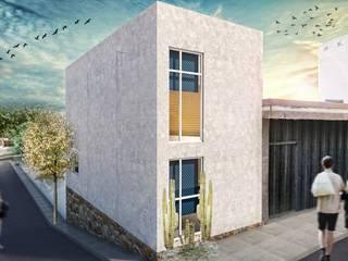 G._ALARQ + TAGA Arquitectos Domki małe Beton Biały