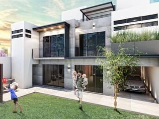 G._ALARQ + TAGA Arquitectos Dom jednorodzinny Kamień Biały