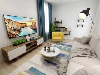 Uma sala pequena Salas de estar modernas por Nkantus Interior Design Moderno