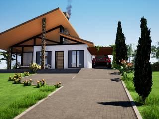Casa de Campo W&A Danilo Rodrigues Arquitetura Casas do campo e fazendas