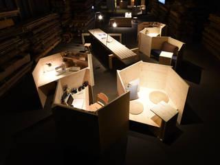 入れる「匣」から、入る「箱」へ。 和風デザインの リビング の 株式会社 大雪木工 和風