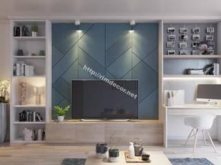 Thiết kế nội thất căn hộ Vista Verde Apartment bởi Công ty trang trí nội thất RIM Decor Hiện đại