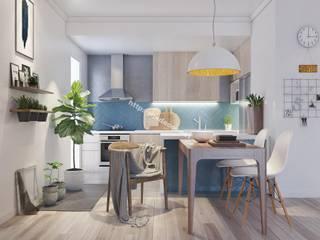 Thiết kế nội thất căn hộ Vista Verde Apartment Nhà bếp phong cách hiện đại bởi Công ty trang trí nội thất RIM Decor Hiện đại