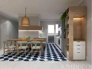 Thiết kế nội thất căn hộ Vista Verde Apartment Phòng ăn phong cách mộc mạc bởi Công ty trang trí nội thất RIM Decor Mộc mạc