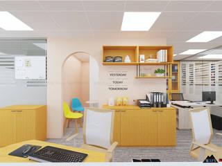Thiết kế nội thất văn phòng IDAC Phòng học/văn phòng phong cách hiện đại bởi Công ty trang trí nội thất RIM Decor Hiện đại