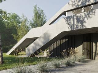 Trójkątny bliźniak / Triangular twin house od Artur Adamczyk - Wizualizacje architektoniczne