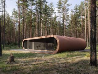 Serpentyna / Serpentine house od Artur Adamczyk - Wizualizacje architektoniczne