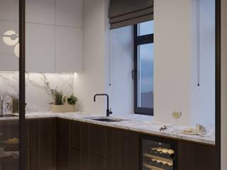 Проект кухни в офисе модельного агентства Andy Fiord Models Офисные помещения в эклектичном стиле от Art Gluck Эклектичный