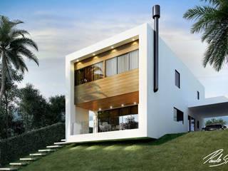 Loft Cubo Casas minimalistas por Paulo Stocco Arquiteto Minimalista