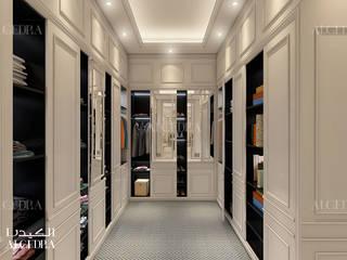 Abu Dhabi'de yatak odası dolap tasarımı Klasik Giyinme Odası Algedra Interior Design Klasik