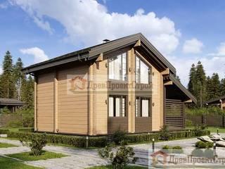 ПСК Древпроектстрой Casas clássicas Madeira Efeito de madeira