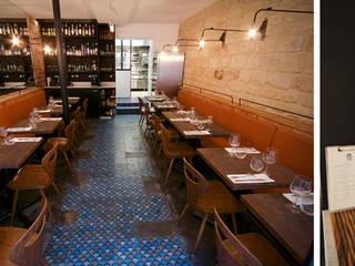 Restaurant l'Aspic Salle à manger industrielle par Agence Florence Rigon Industriel