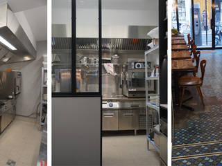 Restaurant l'Aspic Cuisine industrielle par Agence Florence Rigon Industriel
