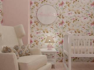 Amelia, dormitorio infantil Vicky Chalbaud Cuarto del bebé Madera Rosa
