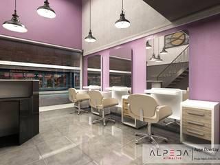 Kuaför Salonu Melis Ergin İç Mimarlık Endüstriyel Oturma Odası