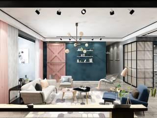 Salon Renderları Melis Ergin İç Mimarlık İskandinav Oturma Odası