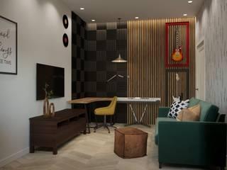 Кабинет в доме с теплой семейной атмосферой Рабочий кабинет в стиле лофт от ARTWAY центр профессиональных дизайнеров и строителей Лофт
