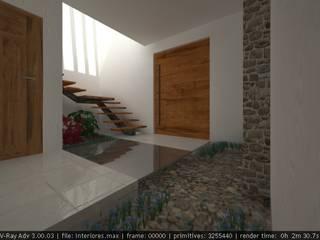 Residencia Cenote Pasillos, vestíbulos y escaleras modernos de Lynder Constructora e Inmobiliaria Moderno