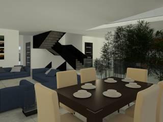 Residencia Balcones de Vista Real Salones modernos de Lynder Constructora e Inmobiliaria Moderno
