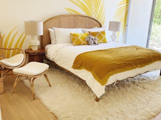MARROW MIRAGE Tropical style bedroom by Bells + Whistles, INC Tropical