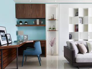 客廳 法柏室內裝修設計 Living room Blue
