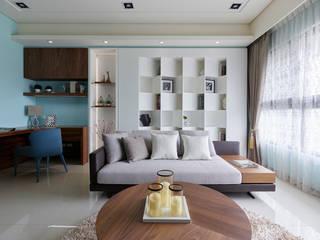 湛藍伴佐綠意 自然悠閒的單身美居 根據 法柏室內裝修設計 北歐風