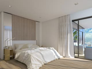 Luxury Residential Apartments in Sandton Deborah Garth Interior Design International (Pty)Ltd Modern style bedroom