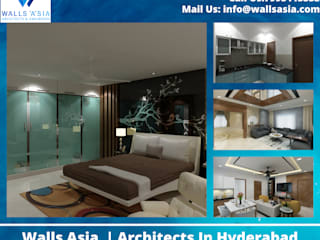 Walls Asia | Architects In Hyderabad Asian style bedroom by Walls Asia Architects and Engineers Asian