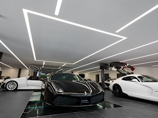 Hacel lighting @ Tom Hartley luxury car showroom Matthew Ling Photography Modern car dealerships