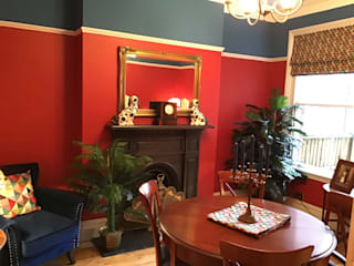 Red Victorian Dining Room by Girl About The House
