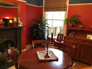 Red Victorian Dining Room de Girl About The House