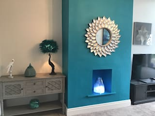 Vibrant Peacock Living Room by Girl About The House