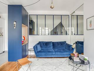 Rénovation Les Lilas 40 m2 Rinnova Salon moderne