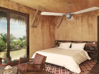 Tropical style bedroom by RAVisuals Tropical