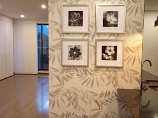 モダンデザインの リビング の Omar Interior Designer Empresa de Diseño Interior, remodelacion, Cocinas integrales, Decoración モダン